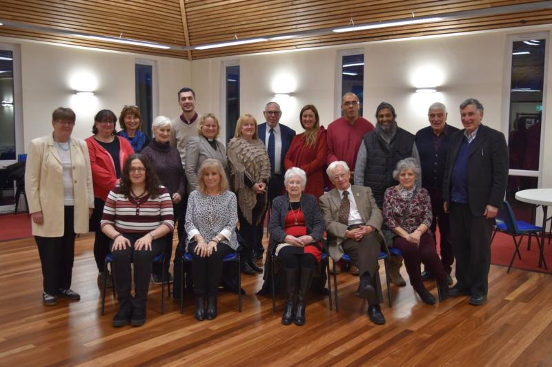 Participants at the most recent Interfaith service at Rawtenstall